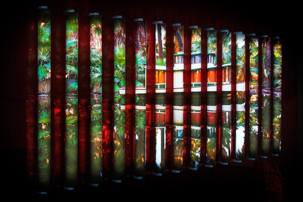 Clint Baclawski (Photography Fellow '19), Detail of OASIS (2017), Photographic Light Installation, 44x80x3 in.