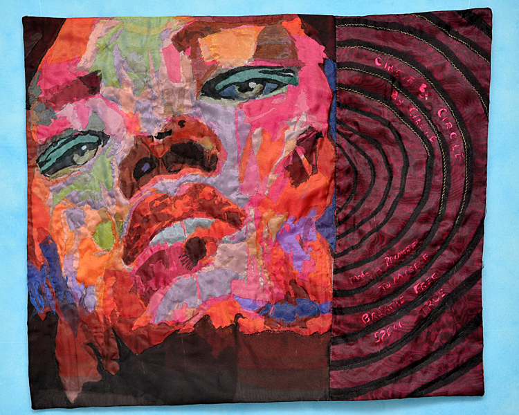 L'Merchie Frazier, NANA'S REFLECTION RISES IN THE WATER (2012), nylon fiber quilt, 36.5x31.5 in.