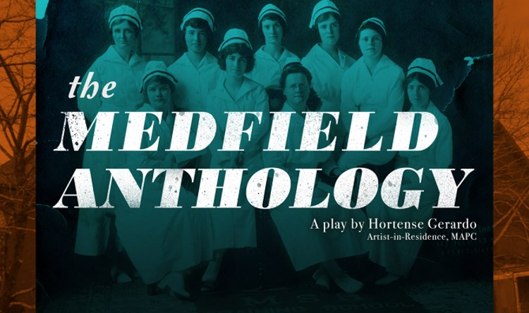 Promotional image (designed by Taylor McVay) for THE MEDFIELD ANTHOLOGY by Hortense Gerardo, created during an artist residency with the Metropolitan Area Planning Council in cooperation with the Cultural Alliance of Medfield.
