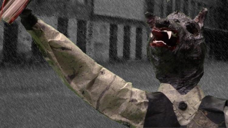 9. Video still (Wolfman) from GREY DAYS (2020) by B. Lynch.