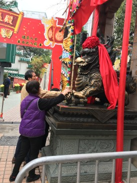 Touching the statues at the entrance are said to bring people good luck as well.