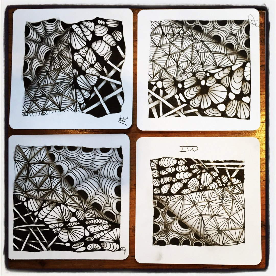 Enjoying Zentangle with Family and Friends 2
