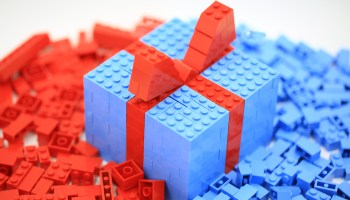 gift box built from Lego bricks - lego gift ideas