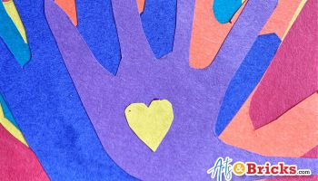 family handprint artwork for covid-19 lockdown