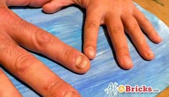 Quarantine Family Handprint Artwork Blog Post