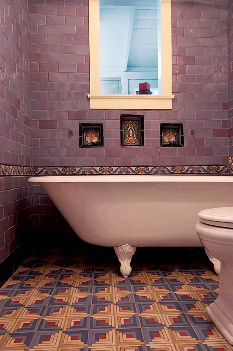 Dazzling Tile For Art Deco Baths Design For The Arts Amp Crafts House Arts Amp Crafts Homes Online