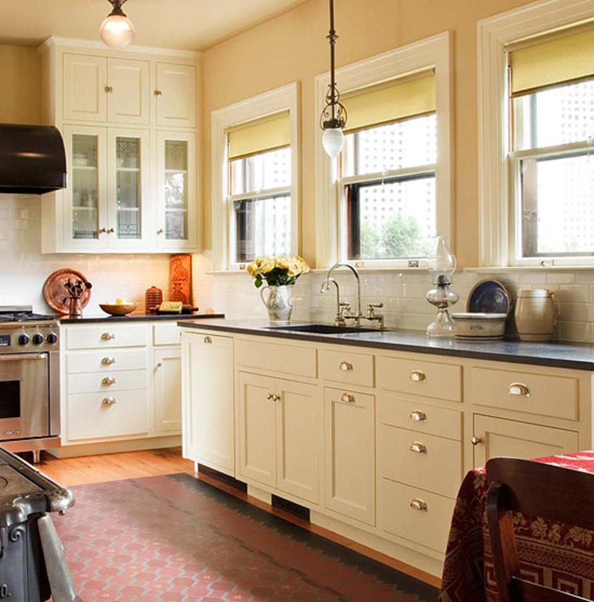 Kitchen Sinks & Countertops: Go Trendy or Timeless? - Arts ... on Backsplash For Black Countertops  id=55430