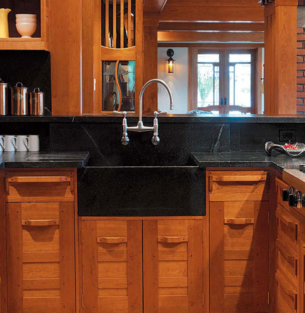 Kitchen Sinks & Countertops: Go Trendy or Timeless? - Arts ... on Black Countertops With Black Backsplash  id=55258
