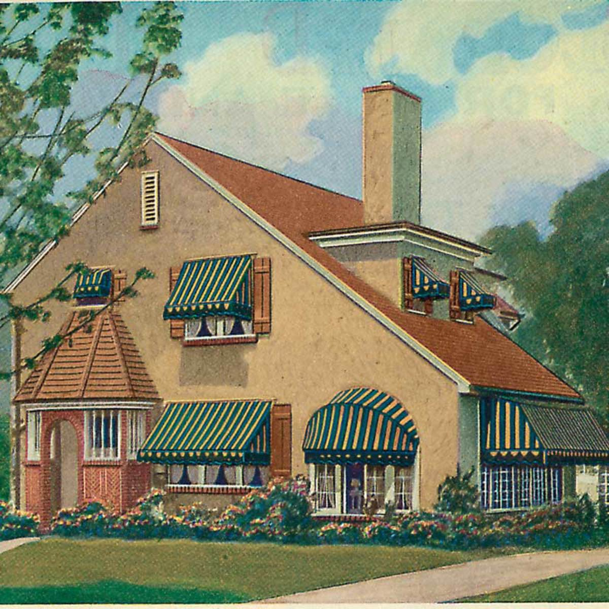 The Practical Appeal Of Window Awnings Design For The Arts Amp Crafts House Arts Amp Crafts