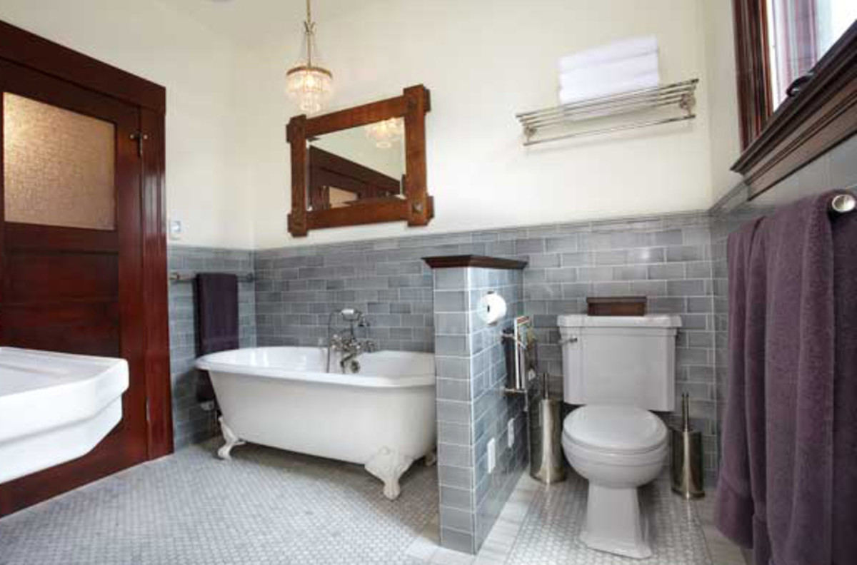 Perfect Function In A New Arts Crafts Tile Bath Design