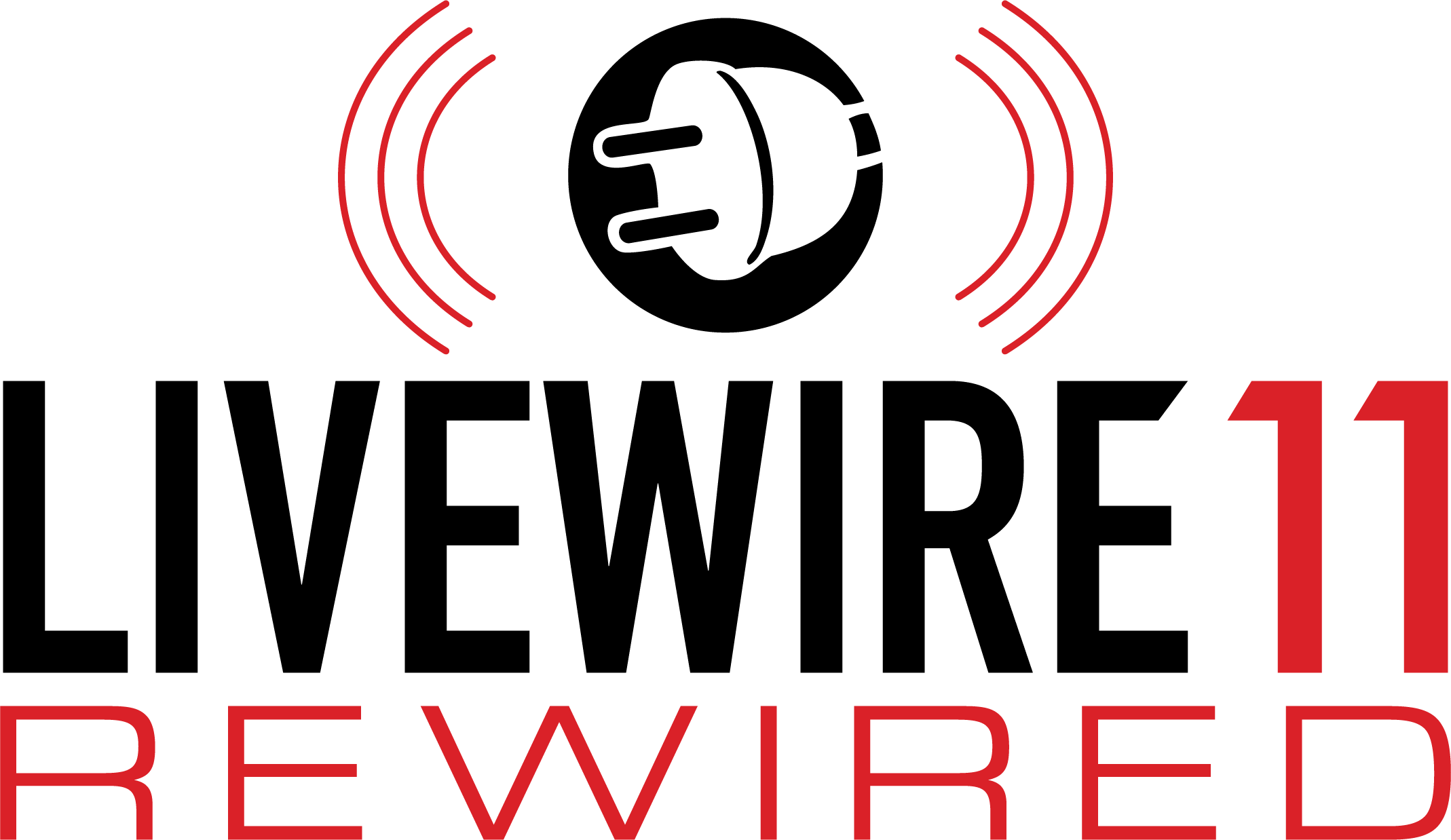 A logo that says Livewire 11 Rewired