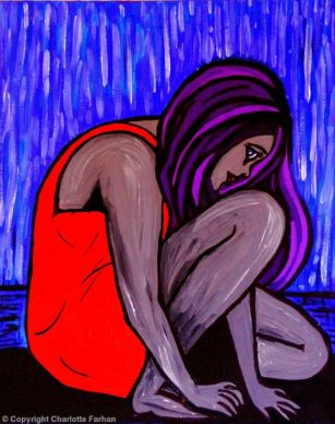 """That Day – By Charlotte Farhan This is an expressionist piece reflecting the sadness and isolation experienced after a devastating trauma and how """"that day"""" is frozen in time forever."""