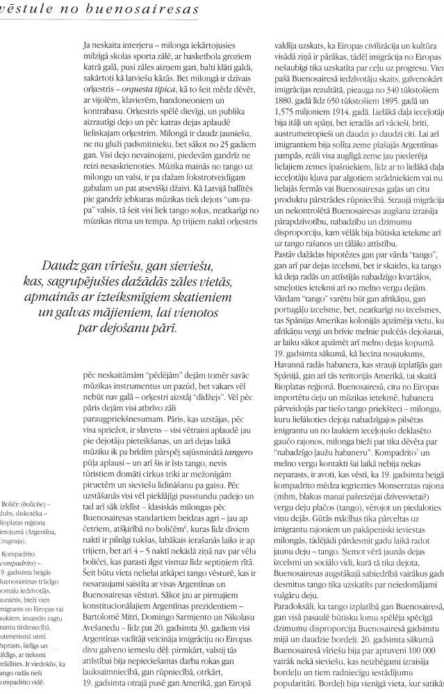 Tango pilsēta: Vēstule no Buenosairesas (3/4)