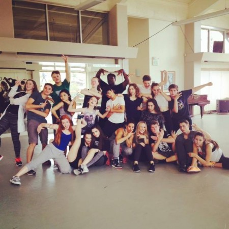 ArtsBridge Summer students posing after the last day of Hip Hop class with Jessica Wolf