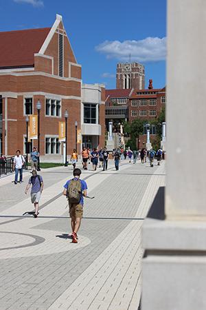 Student returning to school