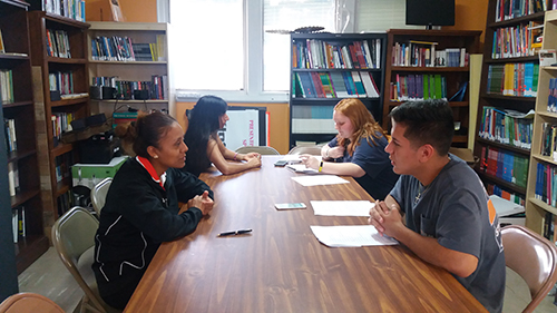 HIspanic Studies Students interviewing