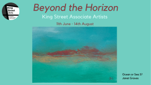 poster for the beyond the horizon exhibition