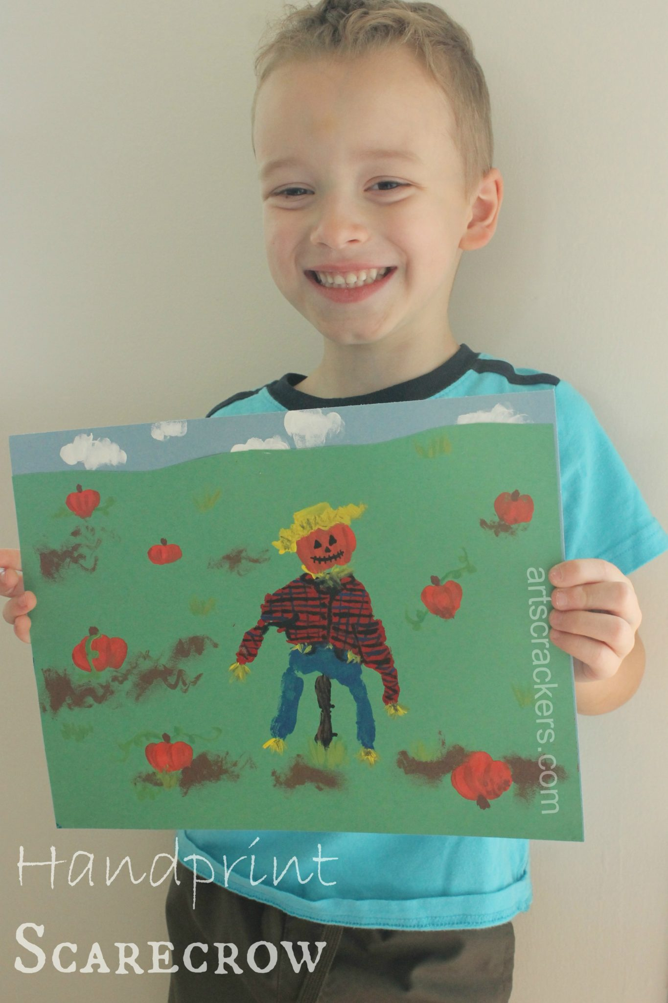 Handprint Scarecrow Art