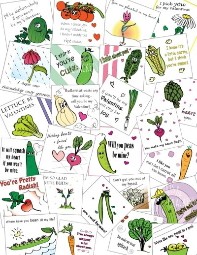 Printable Valentines Full Color Seed Packet Designs