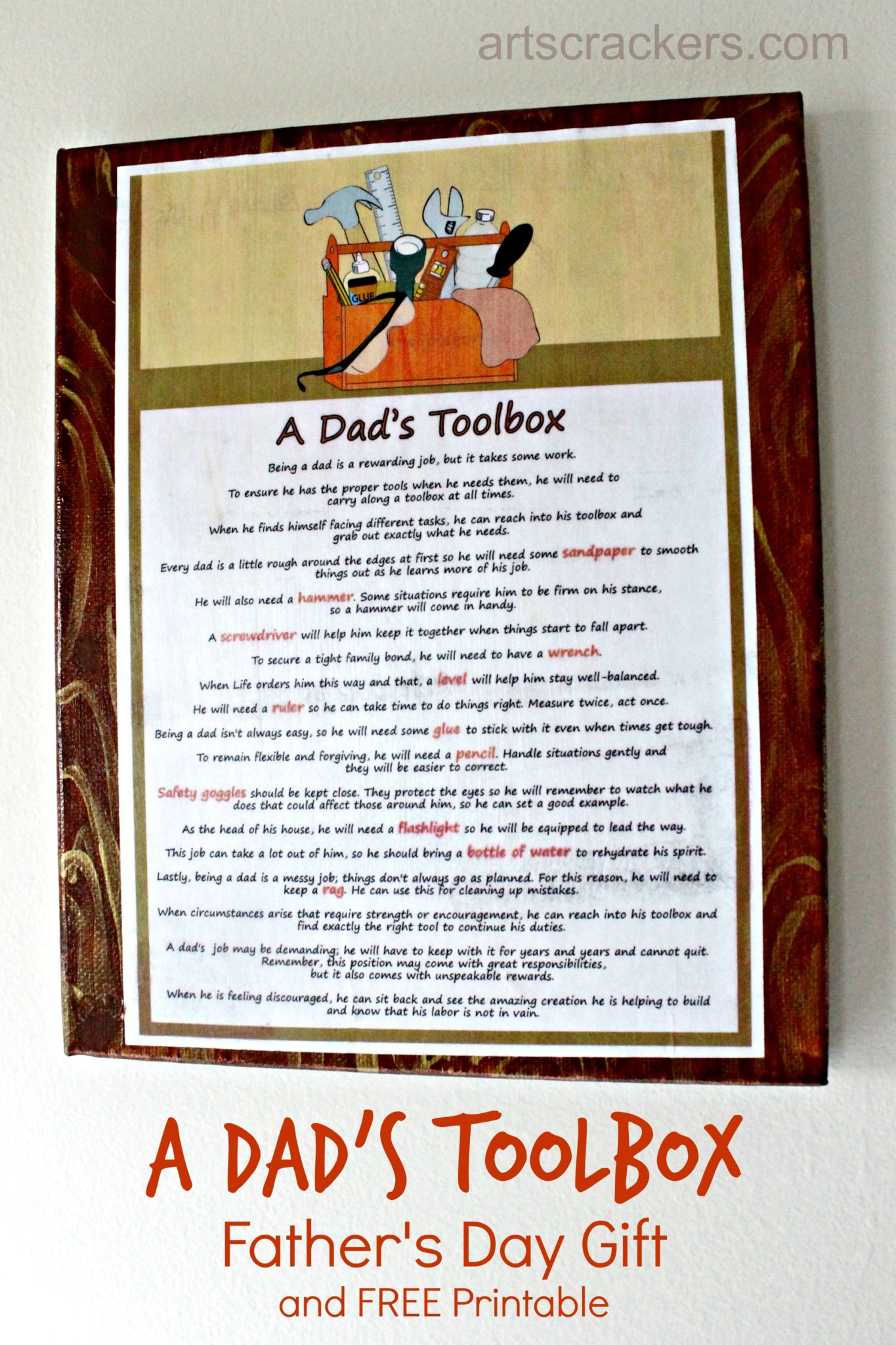 A Dad S Toolbox Father S Day T And Free Printable