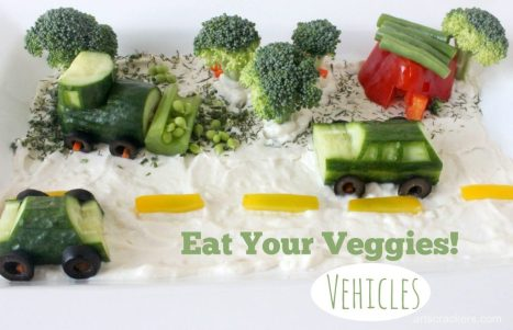 Eat Your Veggies Vehicles Tray Tutorial