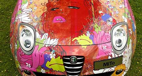 Seductive and colourful Alfa Romeo by Louise Dear of Totnes