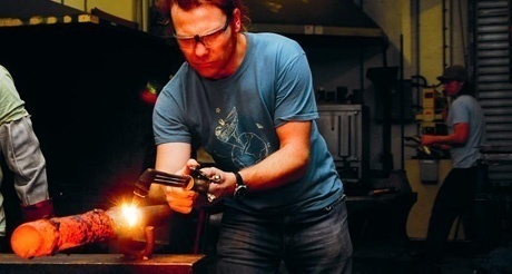 Going at it hammer and tongs! Blacksmith event at Plymouth College of Art
