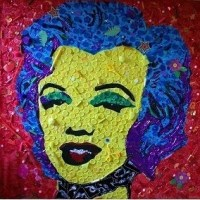 Ed Chapman's 5x5 Marilyn Monroe mosaic raises £2,050 for the Toy Trust