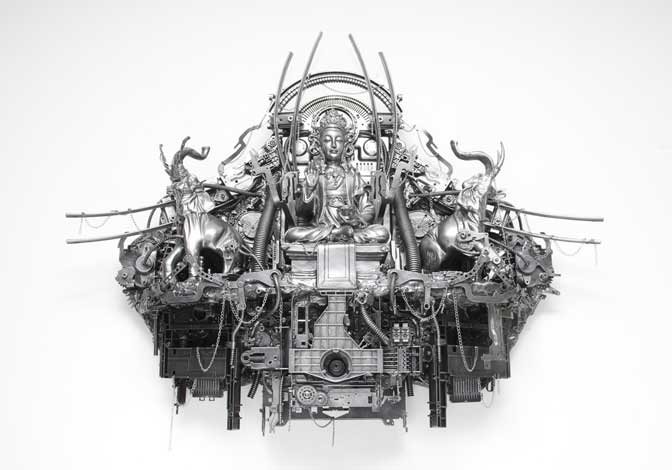Mechanic turned artist unveils exhibition in Exeter