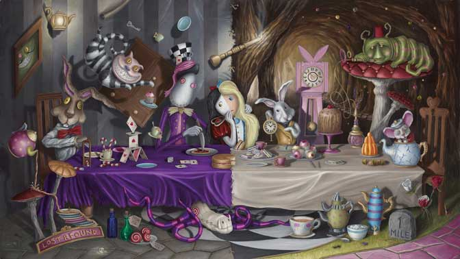 Artist follows Alice to Wonderland with new collection