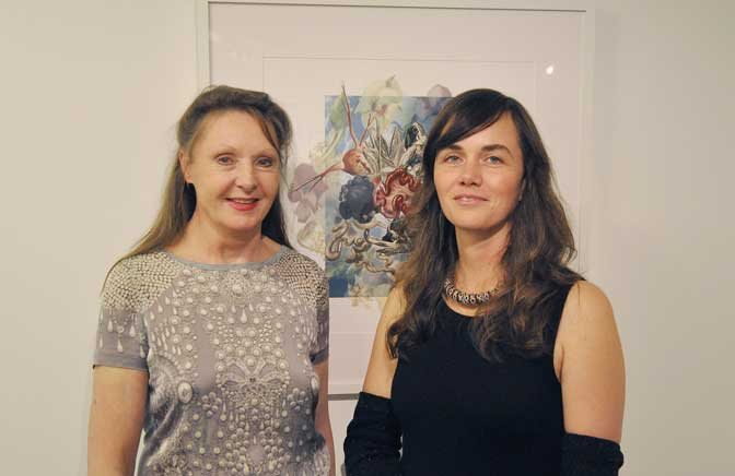 Stella Levy (White Moose) with Mila Oshin (Project AfterBirth Curator). Courtesy of Chris Lewis.