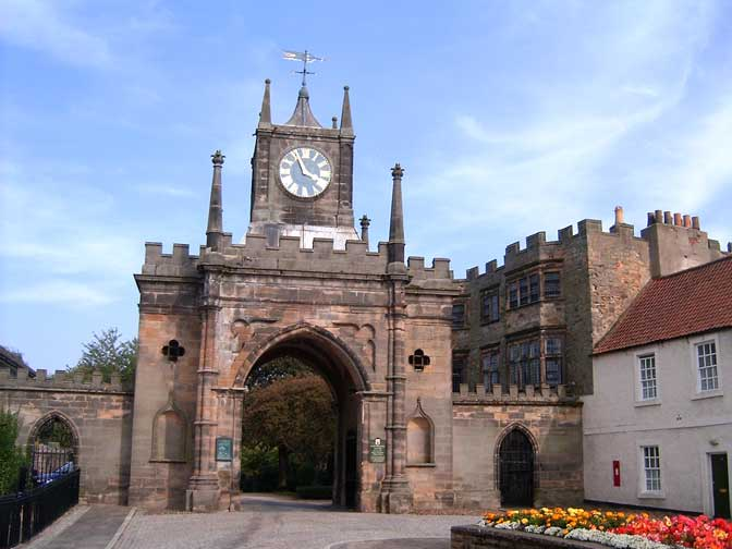 Gatehouse to the outer grounds of Auckland Castle — in County Durham.