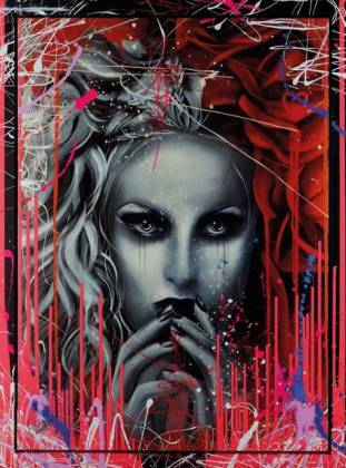 Melting Heart, hand embellished limited edition