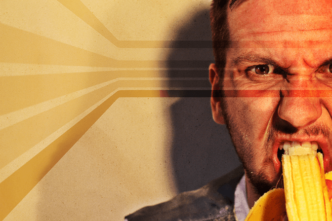 James Elston goes bananas (and philosophical) on tour with Samuel Beckett's Krapp's Last Tape