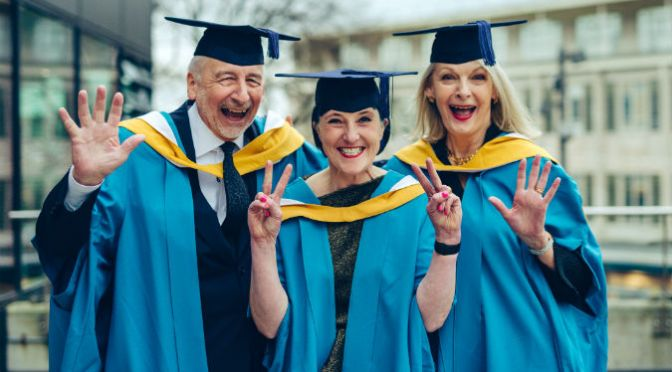 Plymouth College Honorary Fellows 2016 - l to r - Sir John Sorrell CBE, Katie Greenyer and Lady Frances Sorrell OBE