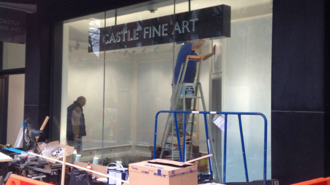 Exeter's Castle Fine Art opens pop-up space to rise from flames