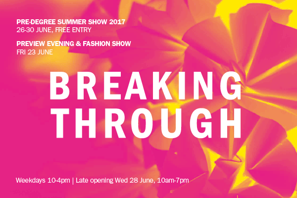 Breaking through: Plymouth College of Art's Pre-Degree Summer Show 2017