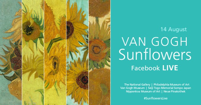 Van Gogh Sunflowers go live on Facebook for virtual exhibition #SunflowersLive