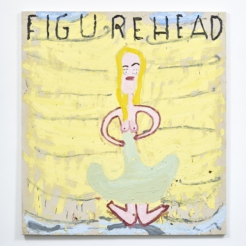 Figure Head on Boat, 2017, Oil on Canvas, 183 x 167 cm, Rose Wylie