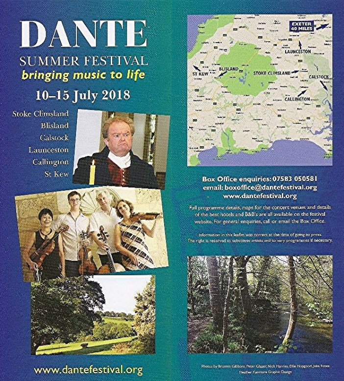 World renowned Dante Quartet return for the Dante Summer Festival