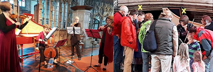 The charm of Devon Baroque for all to share at St Mary's, Totnes, and at  Dartington's Community Day