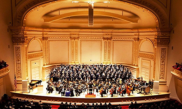 The South West Philharmonia and Chorus at Carnegie Hall for New York premiere