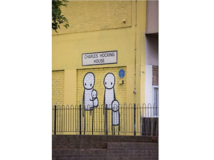 Stik's Big Mother and Family Group preserved in West London