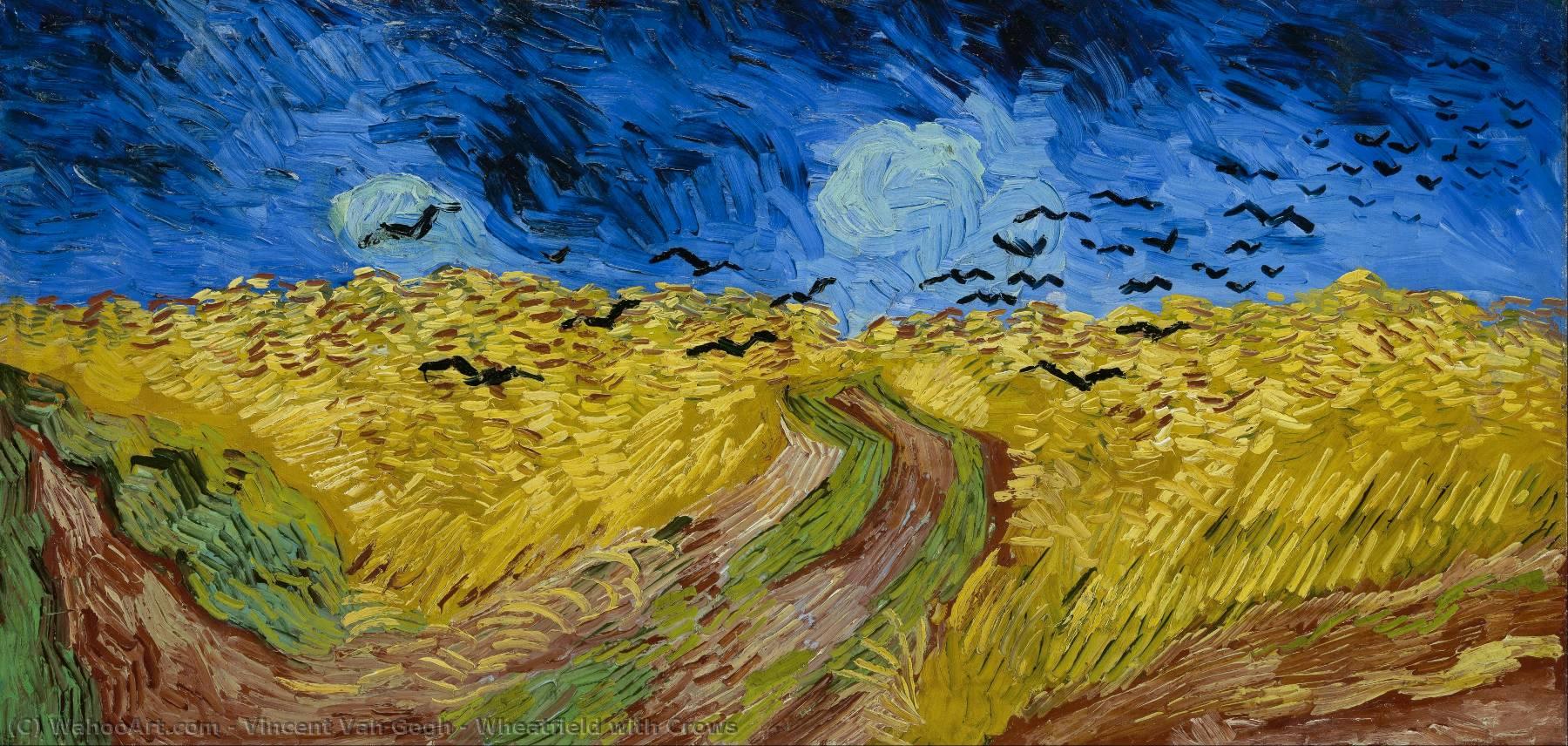 Resultado de imagem para Trigal com Corvos van Gogh