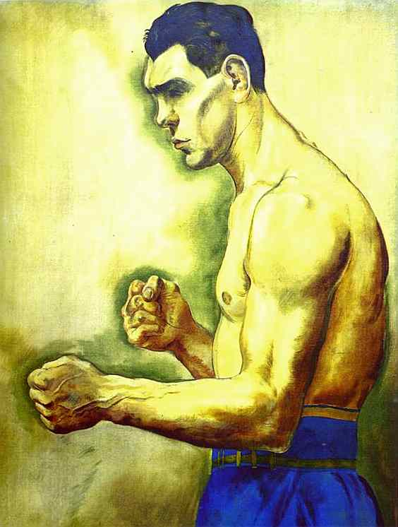Max Schmeling the Boxer by George Grosz (1926)