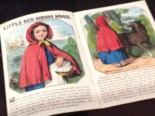 Various iterations of Little Red Riding Hood