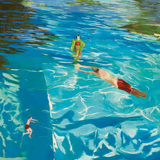 """John Berggruen Gallery is showing Christopher Brown's """"The Floating World,"""" 2008 Oil on linen mounted on panel, 80 x 80 inches."""
