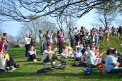 The Community Choir had a fantastic turn out for their first public performance.