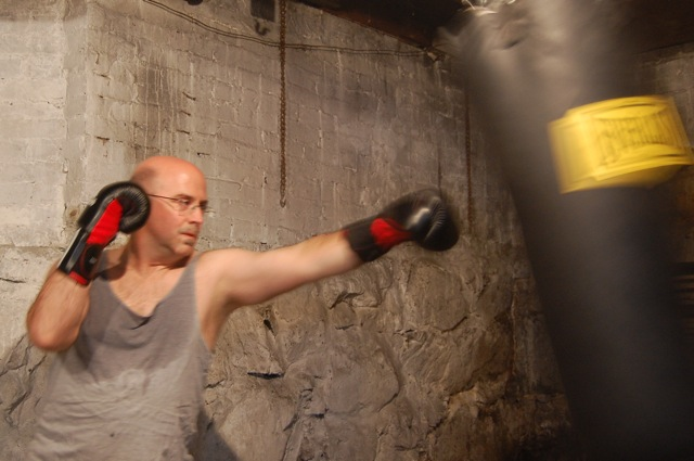 Left Jab to the Heavy Bag