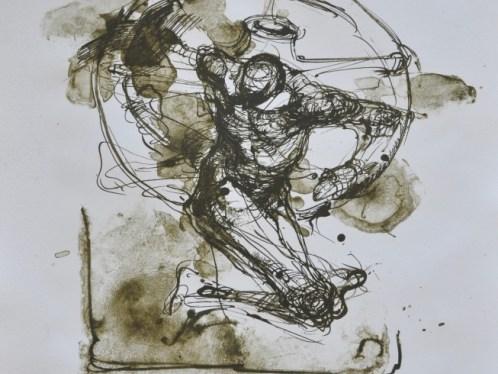 The Pilgrim VI _ Hjulet (variation)- lithography
